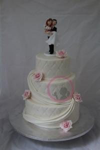 Hochzeitstorte Rasa Weiß